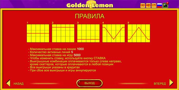 Golden Lemon – правила игры